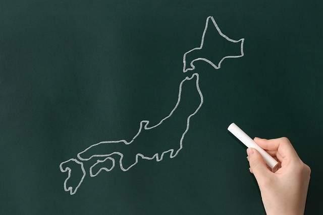 整体オフィス空流 出張 日本地図